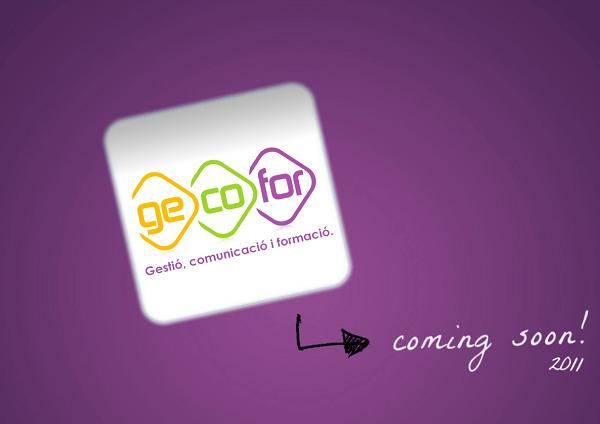 Página web de mantenimiento de Gecofor antes de lanzar nuestra primera web en 2011