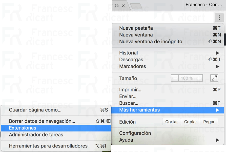 Instalar extensiones en Chrome
