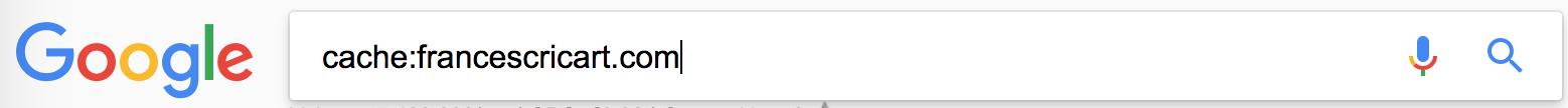 búsqueda cache: para ver copia en memoria de tu web en google