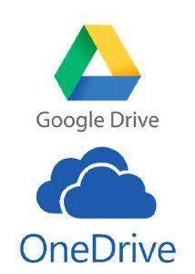 Google Drive y OneDrive