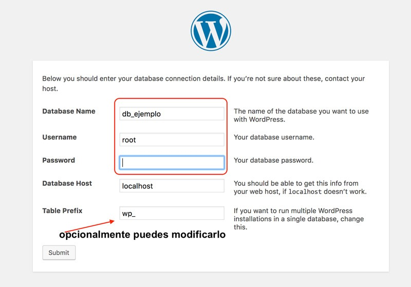 paso 8 guia paso a paso instalación de wordpress en local