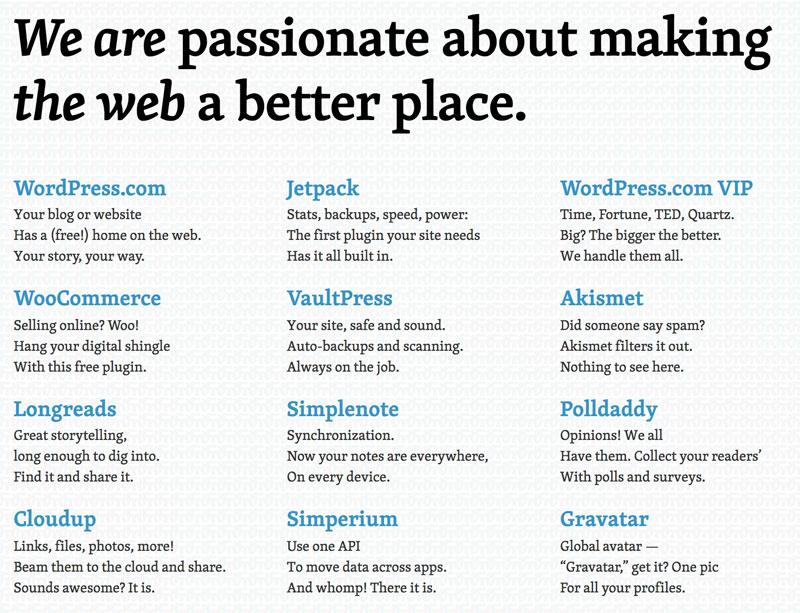 servicios wordpress de Automattic