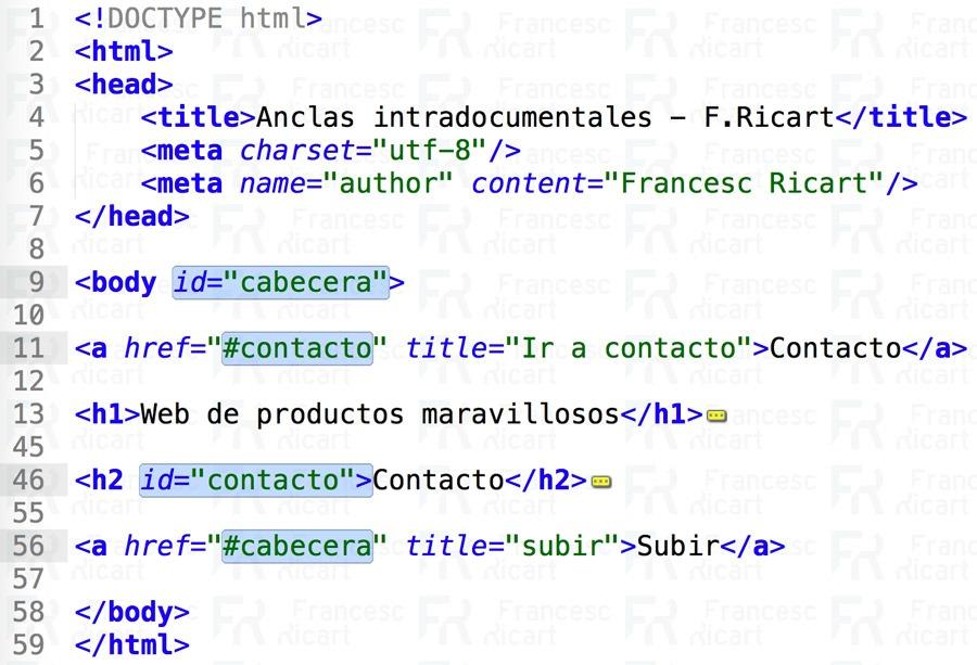 anclas html intradocumentales