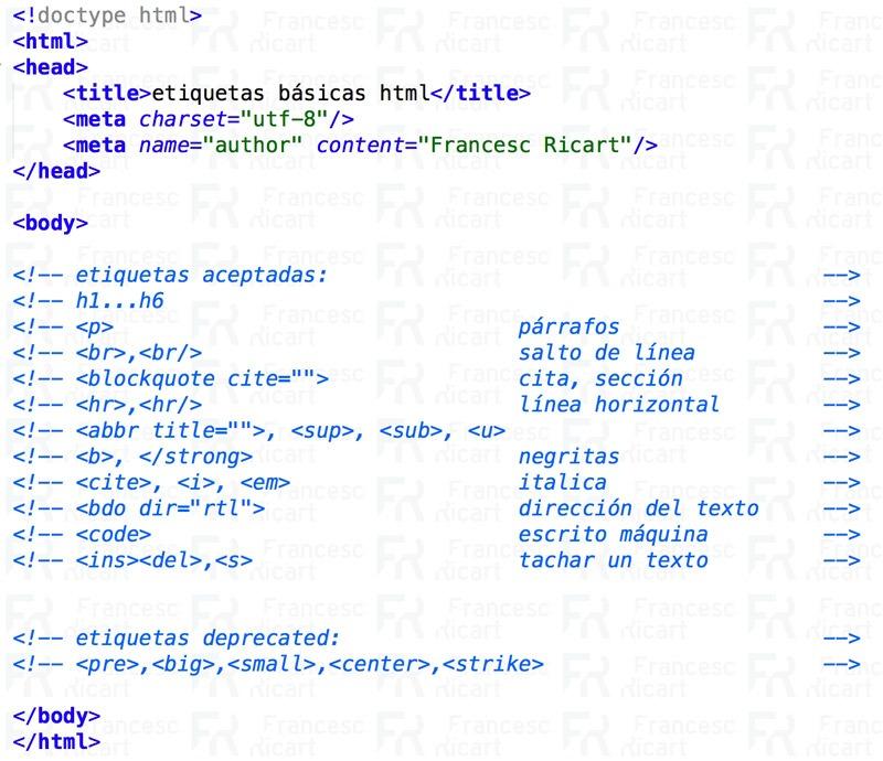 etiquetas html introducción