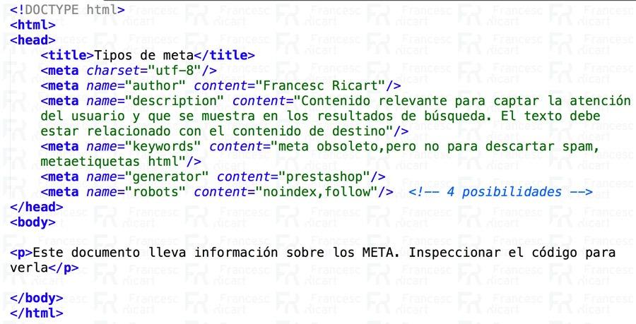 meta etiquetas html
