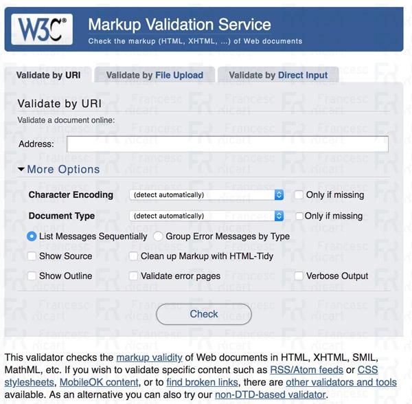 Validador de código HTML del W3C