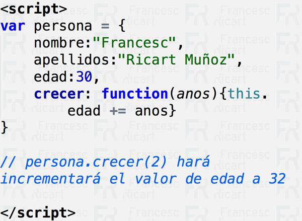 Ejemplo de método javascript personalizado