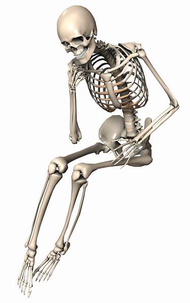 esqueleto en huesos