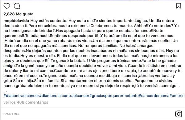 @mepidolavida - día contra el cáncer 2018
