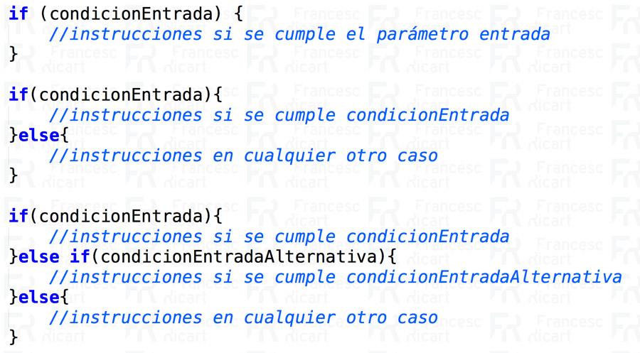 Sintaxis condicionales javascript