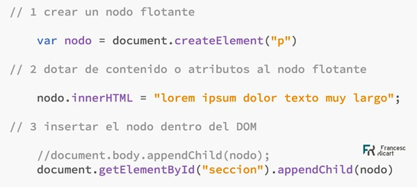 añadir parráfo DOM mediante Javascript