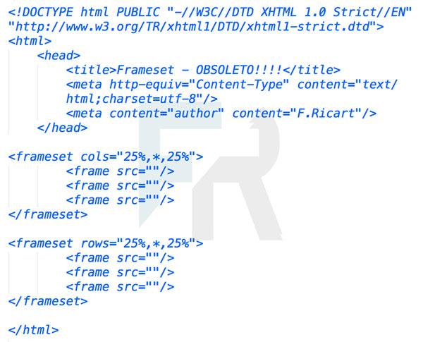 chuleta frameset html