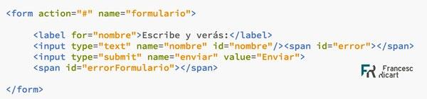 html de un formulario web