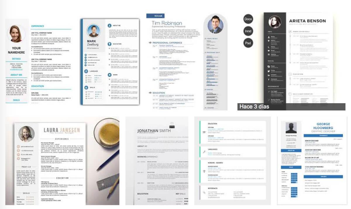 Currículums vitae de copy pega - Consultoría web y formación - El ...