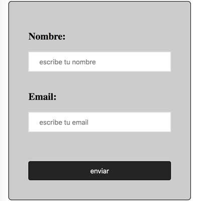 formulario html con css