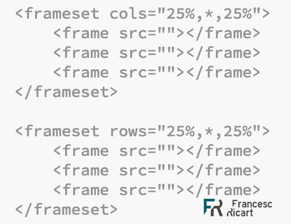 Chuleta framesets html