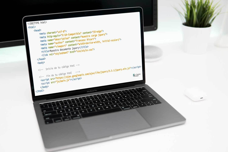ordenador con código jquery
