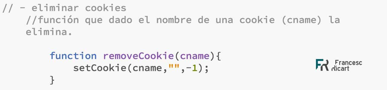 Función para eliminar una cookie con javascript