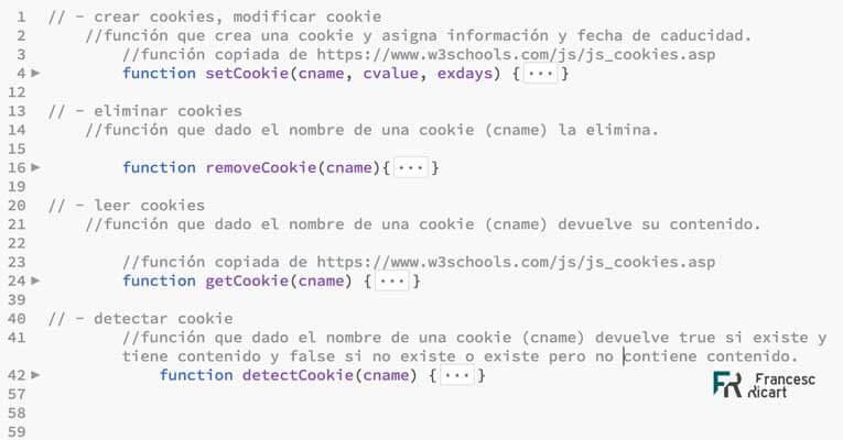 código funciones javascript para cookies