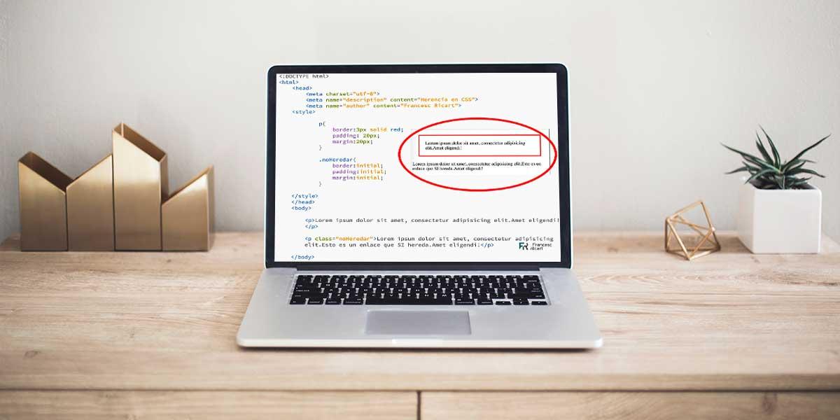 Pantalla con código css y html