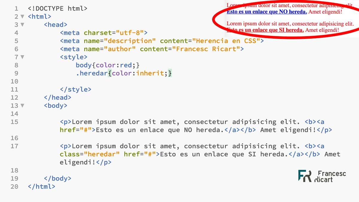 Concepto de herencia en CSS 1