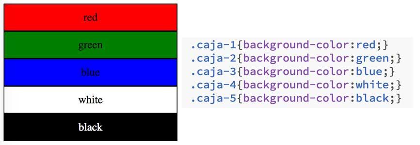 Colores CSS para web 1