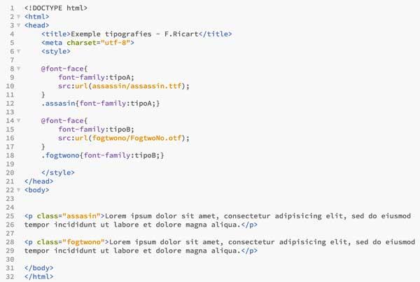 Como usar tipografías importadas con CSS