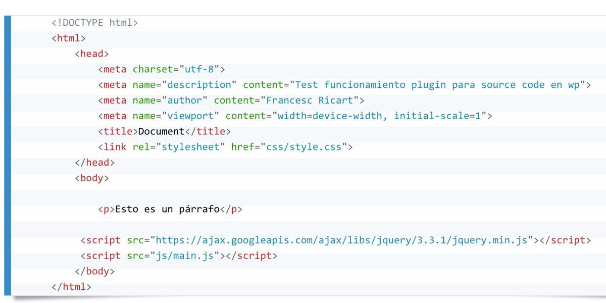 Como insertar código fuente en wordpress 2