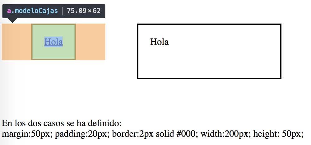 elemento en linea comparado con elemento inline-block