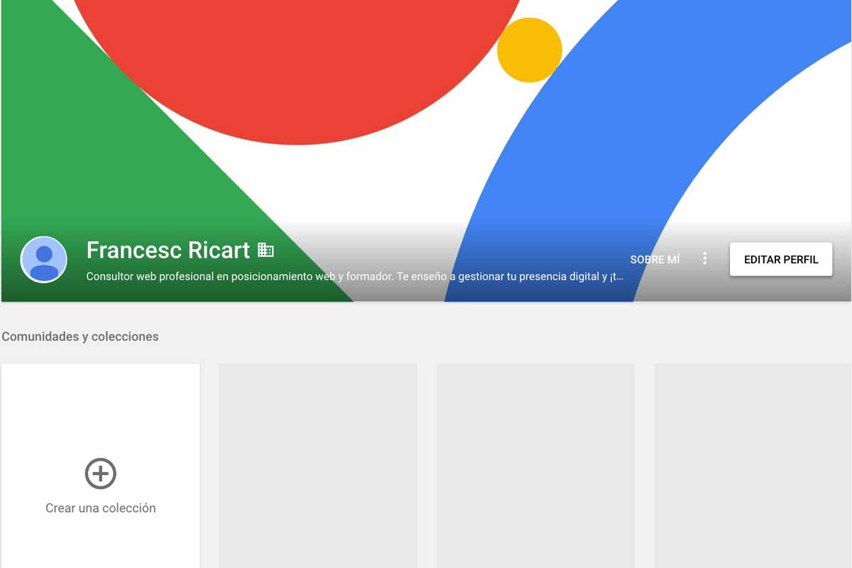 Perfil que nunca se configuró de Google Plus