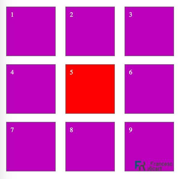 La caja roja numero 5 tiene posicionamiento statico