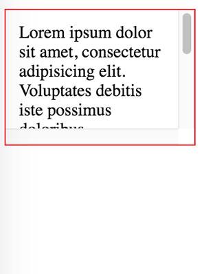 overflow:scroll; de css