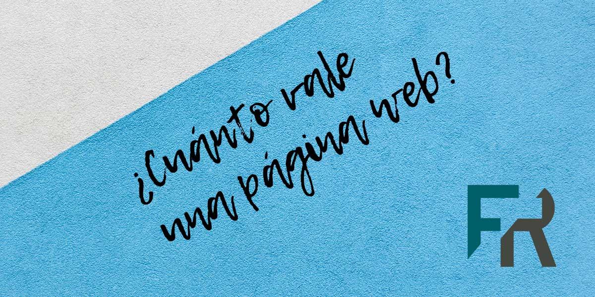 Portada publicación sobre cuánto vale una página web
