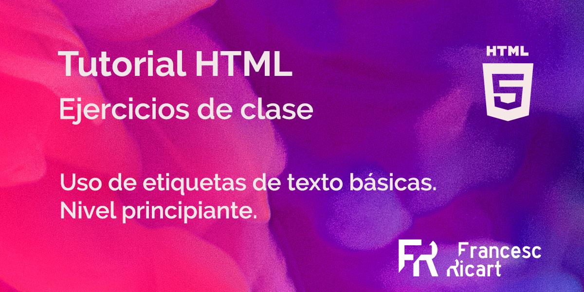 Portada ejercicio html etiquetas de texto