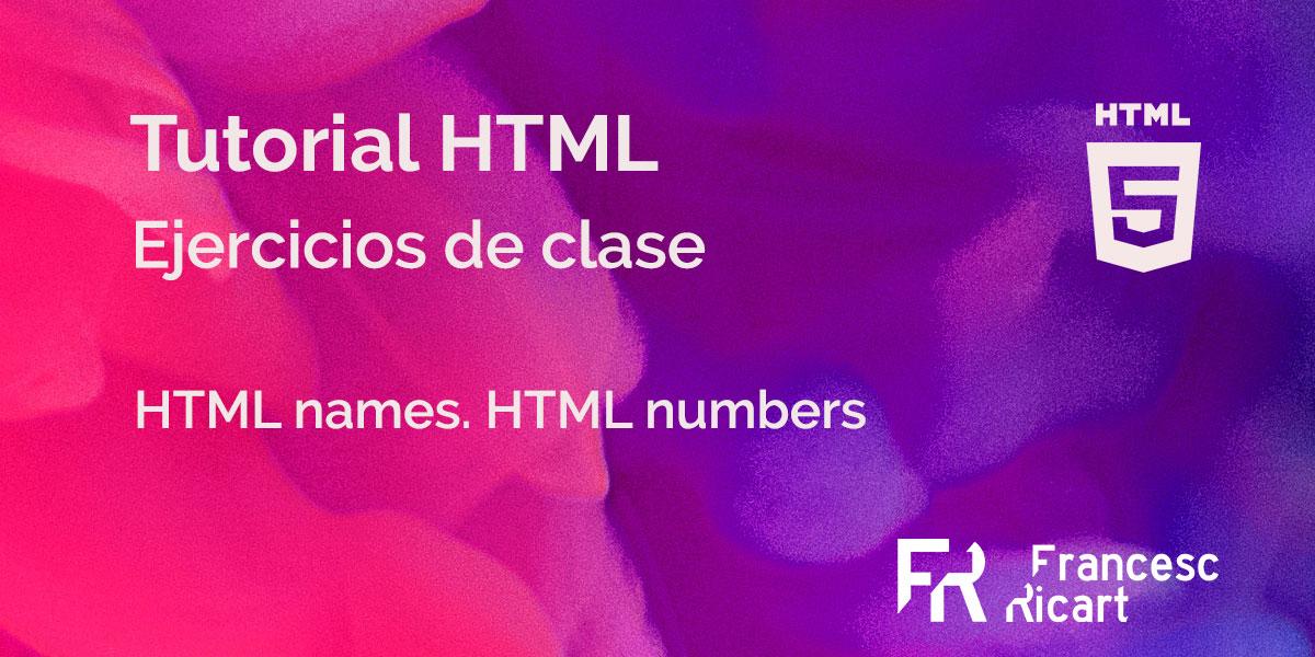 portada ejercicio html caracteres especiales
