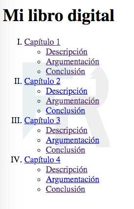 índice libro digital con html