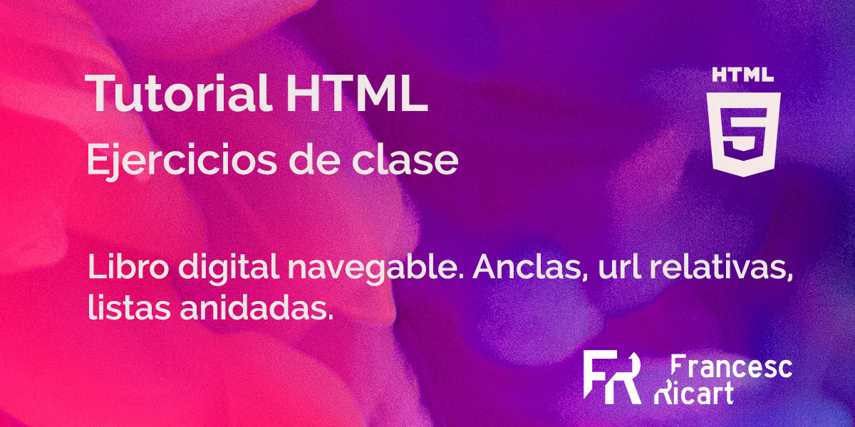libro digital navegable. ejercicio html.