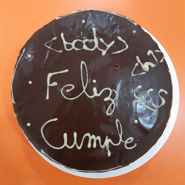 tarta cumpleaños profesor