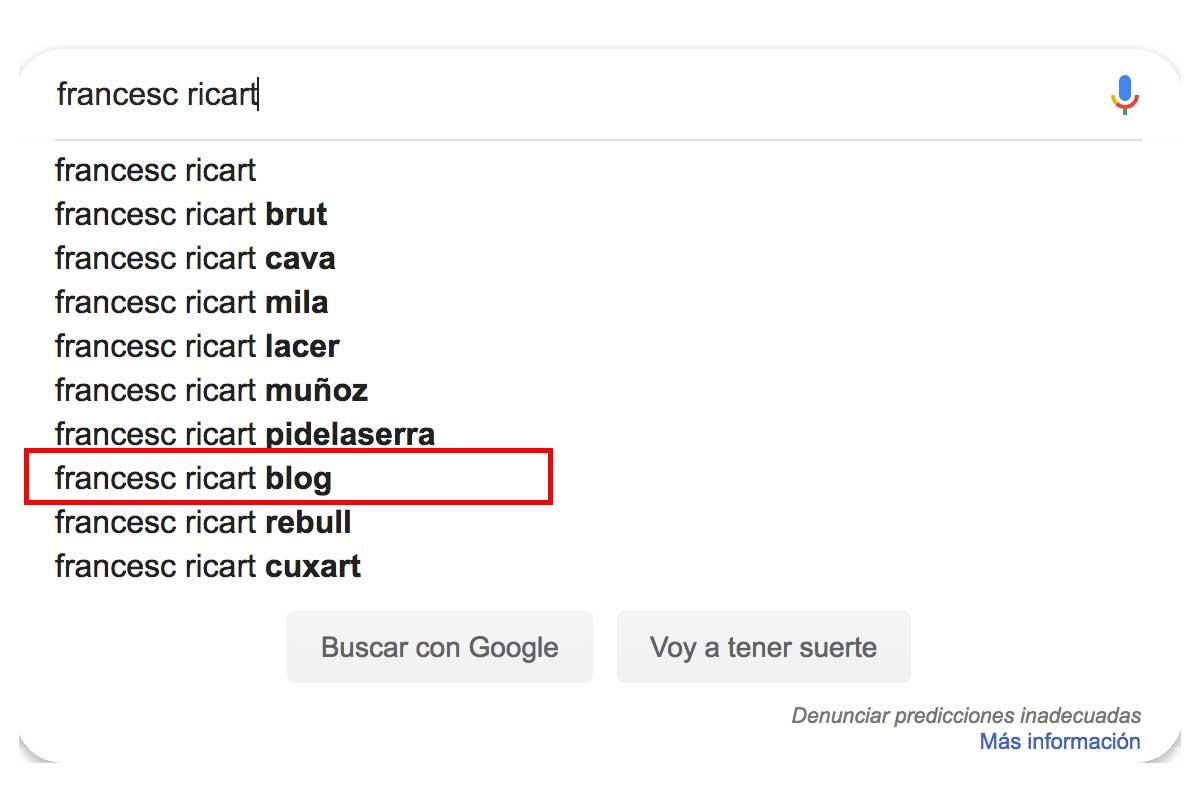 Búsqueda google instant por francesc ricat