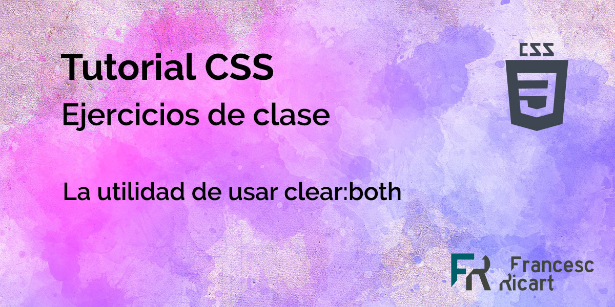 Ejercicio clear css