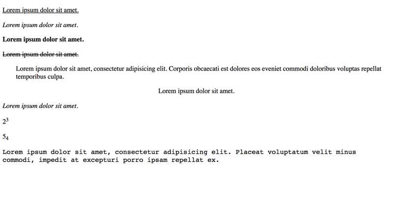 Ejercicio html con css
