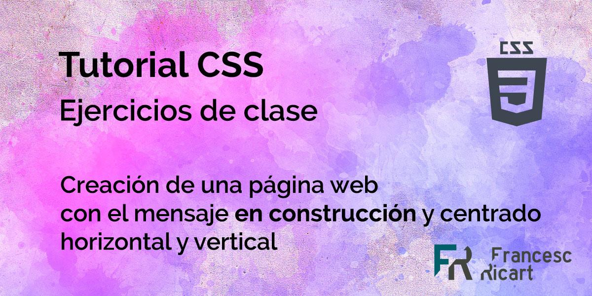ejercicio html y css página web en construcción