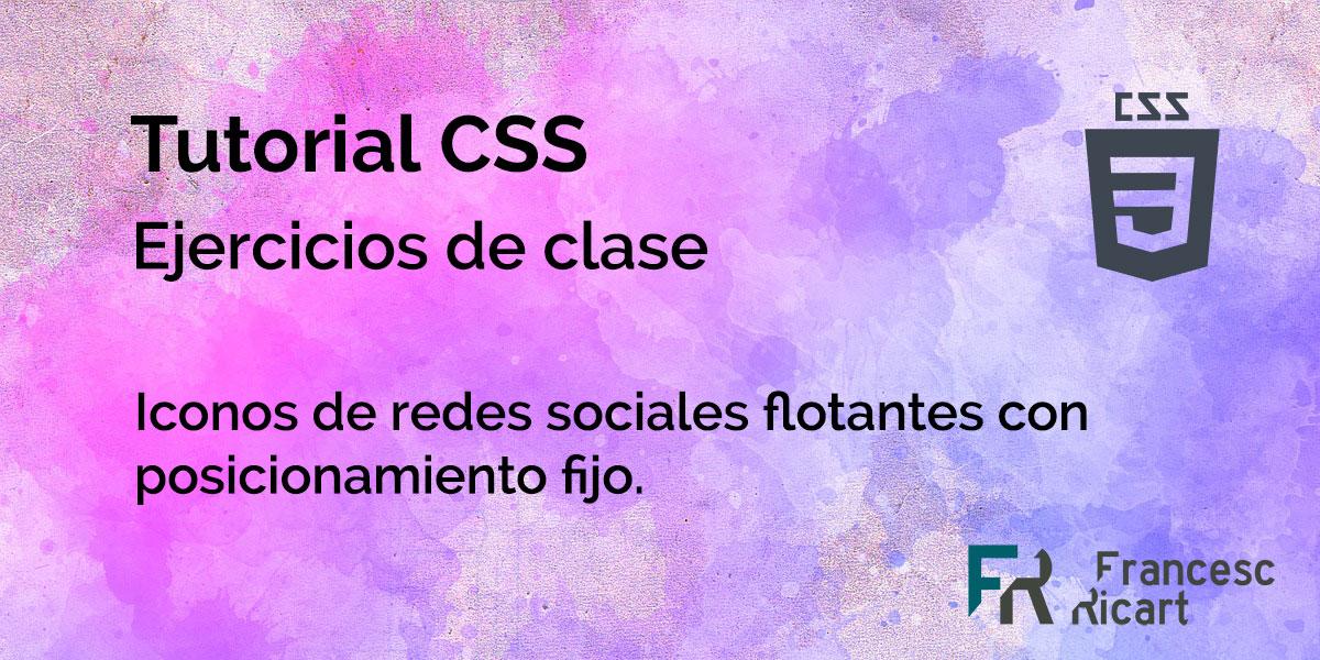 Posicionamiento iconos sociales con css y html