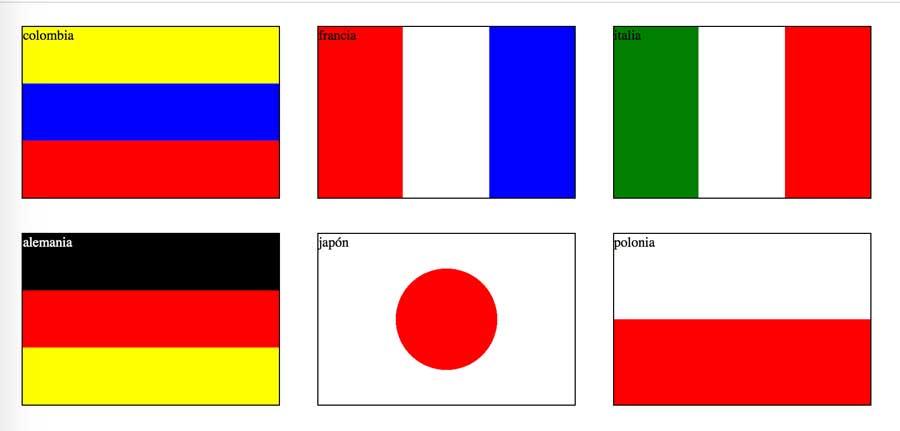 banderas realizadas con css