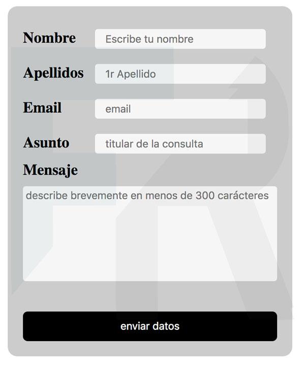 enunciado formulario web