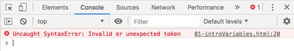 error javascript