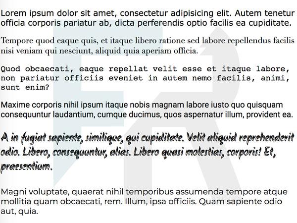 enunciado ejercicio tipografías css
