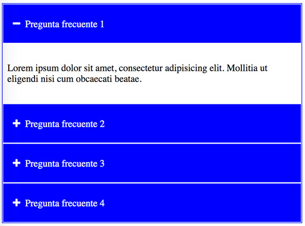 Efecto accordion con jQuery 1