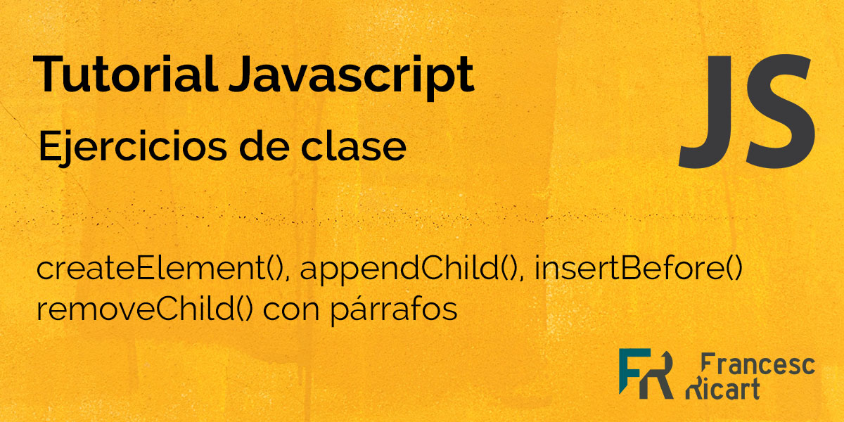 Crear, modificar, eliminar nodos en Javascript