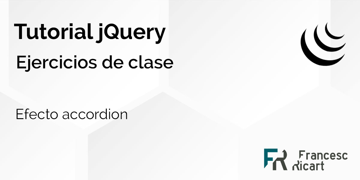 efecto accordion con jquery